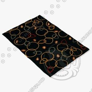 chandra rugs met-508 3d 3ds