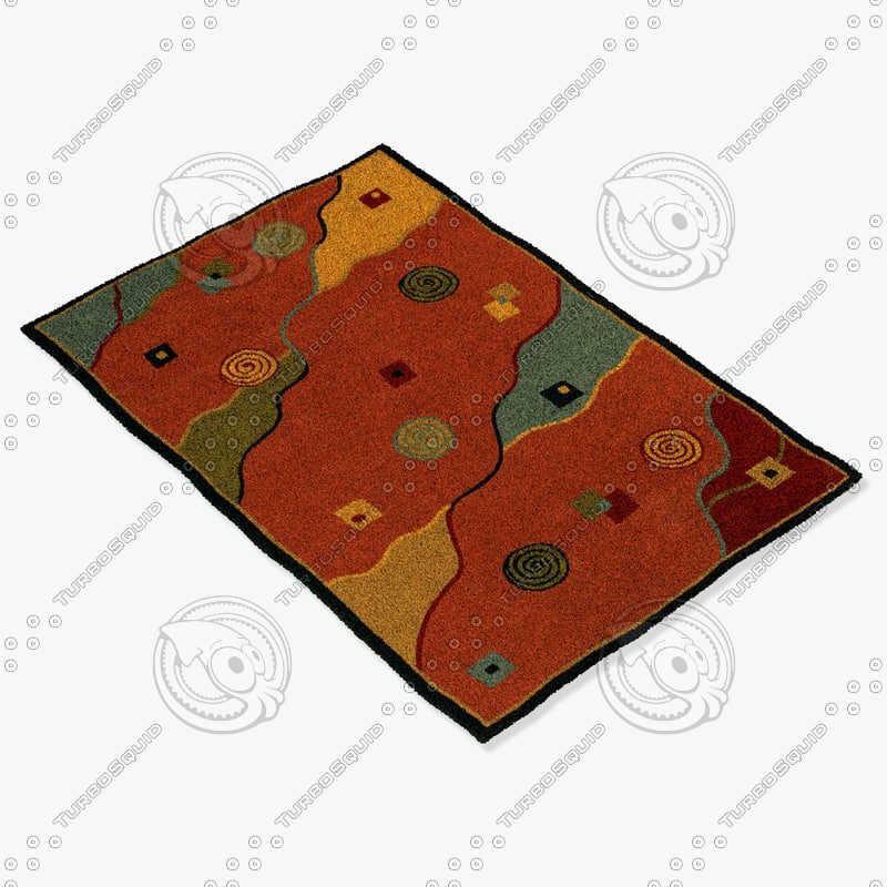 chandra rugs met-537 3d obj