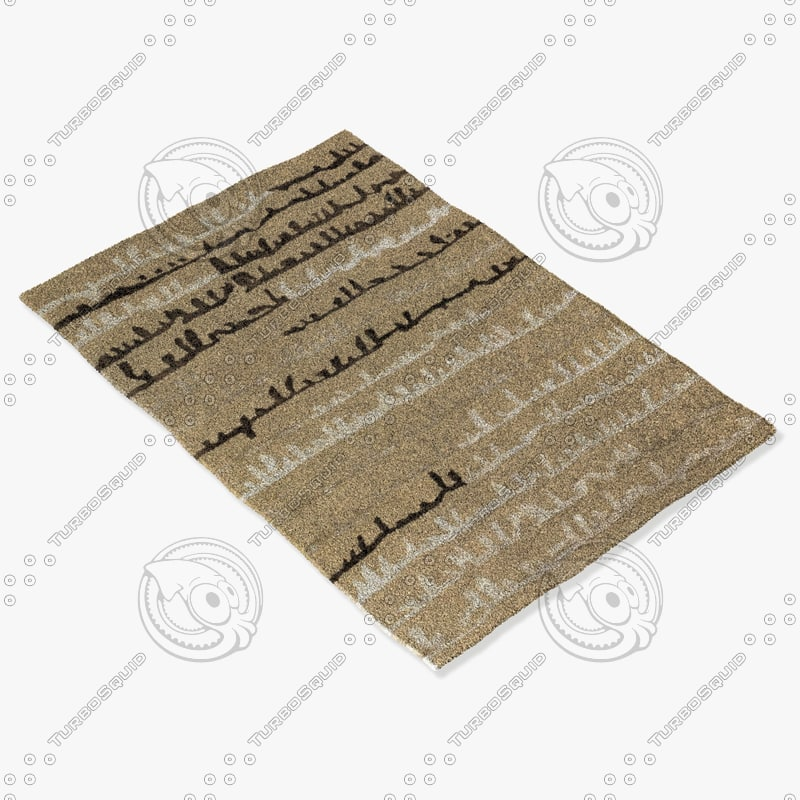 chandra rugs nav-5007 3d model