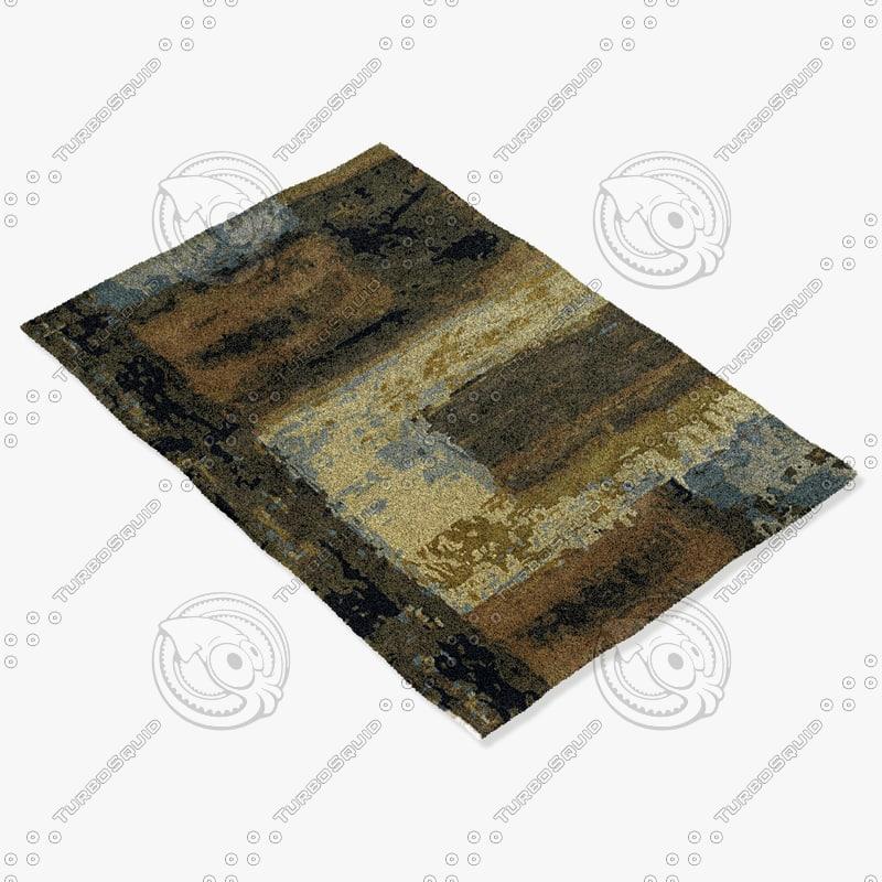 chandra rugs nir-6603 3d model