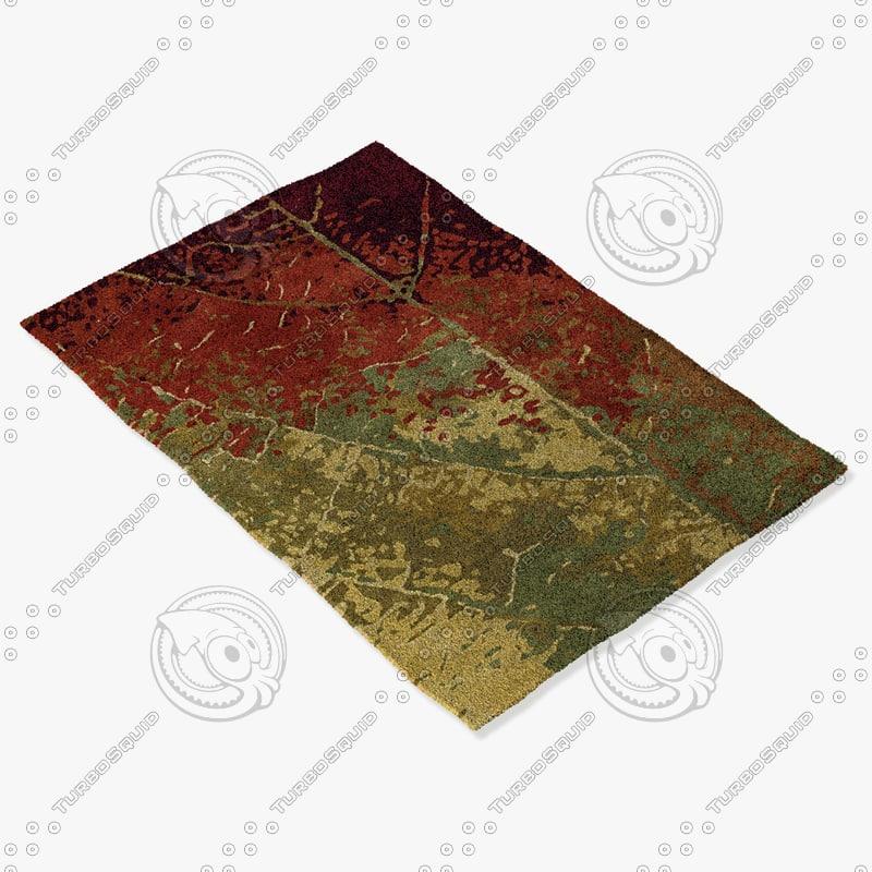 chandra rugs nir-6604 3d model