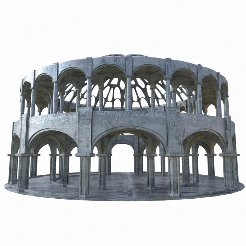 temple gods 3d model