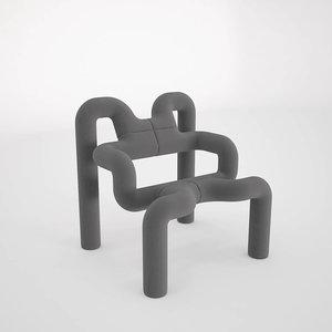 3d model of ekstrem chair