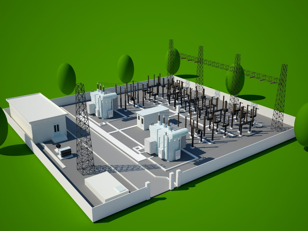 power station 3d model