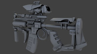 3d model of sci fi weapon