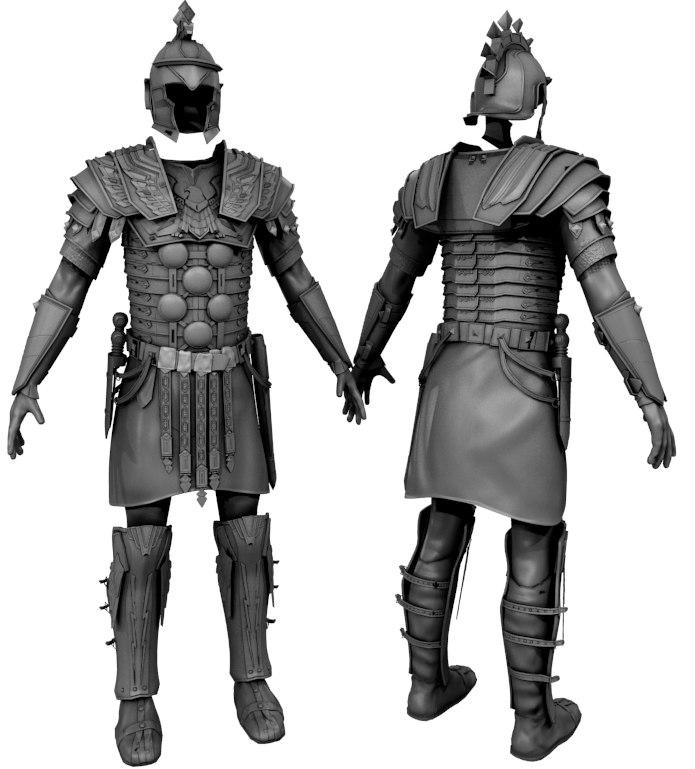 3d gladiator armor