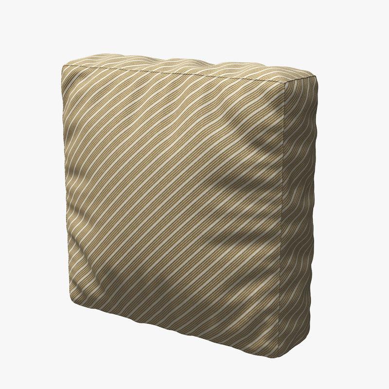pillow cloth 3d max