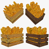 3d model of crate bread