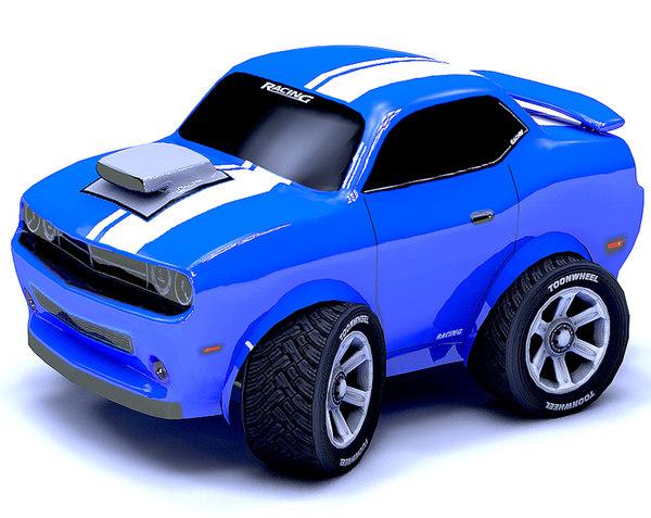 3d car racing mesh