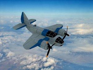 3d bristol bomber plane model