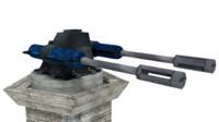 3d double gun turret