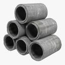 industrial pipes 3D models