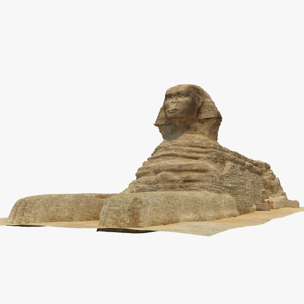 3d great sphinx giza model