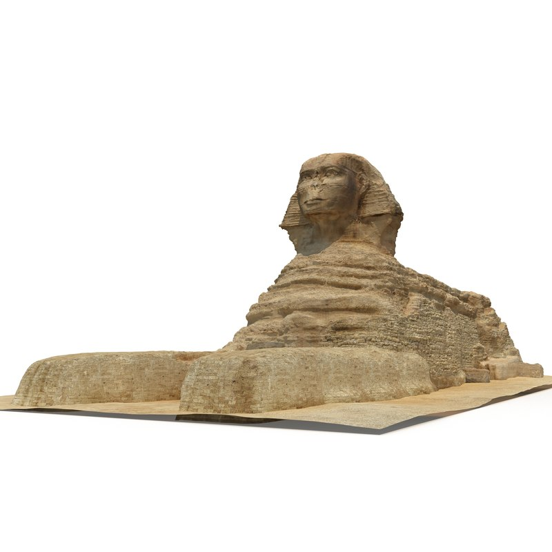 3d great sphinx giza model