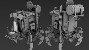robot machine 3d 3ds