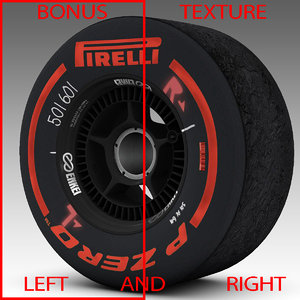 3d model of pirelli tyre enkei