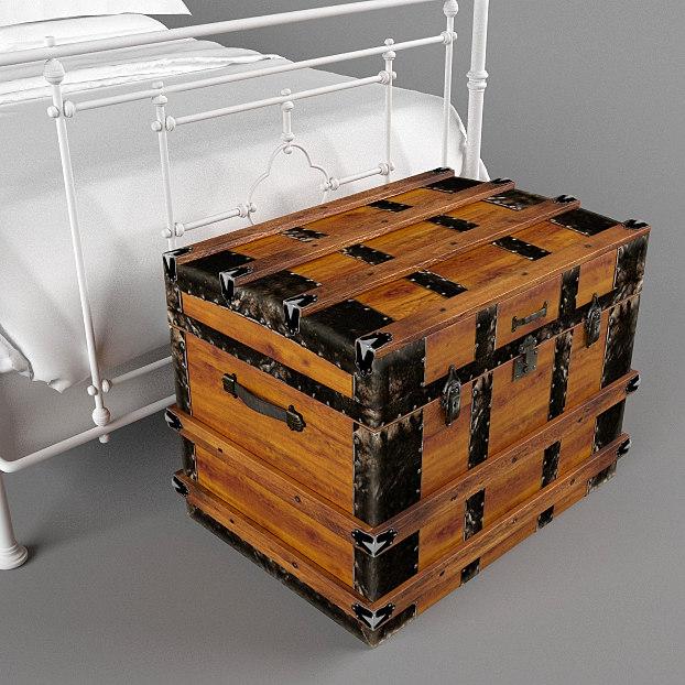 3d antique chest