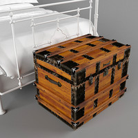3d antique chest