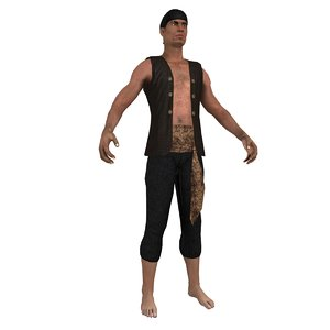 3d pirate bandana