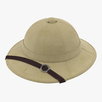 3d model pith helmet