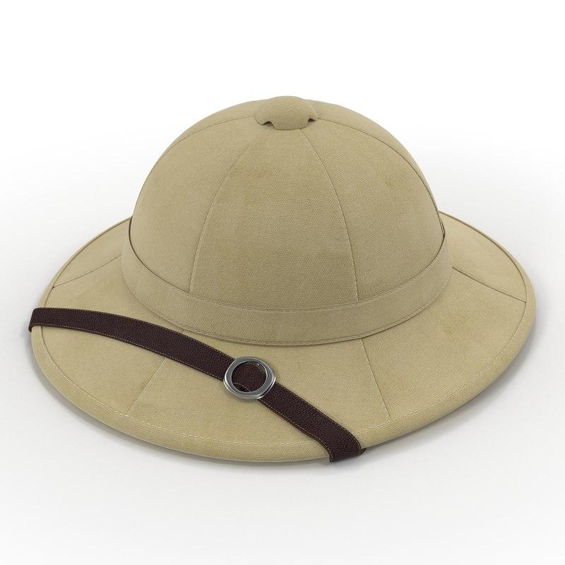 3d model pith helmet