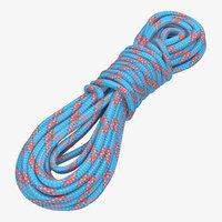 3dsmax rock climbing rope blue