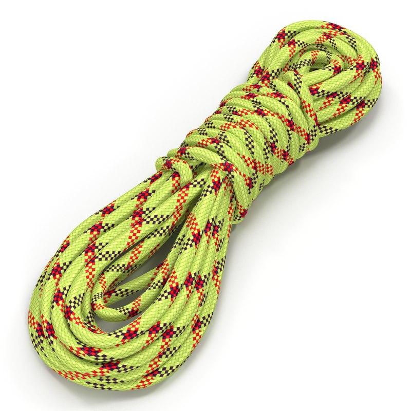 rock climbing rope 3d model