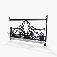 seamless railing 3d model