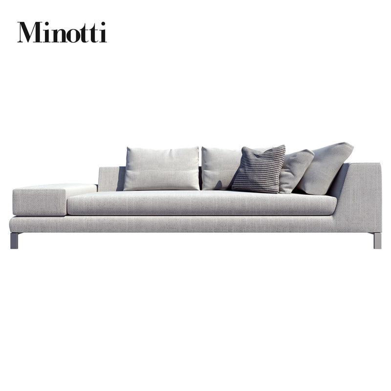 3d minotti sofas hamilton islands model