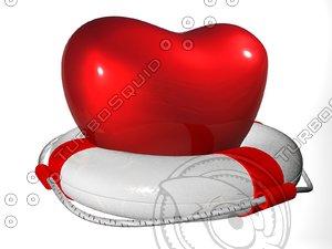 c4d heart lifebuoy