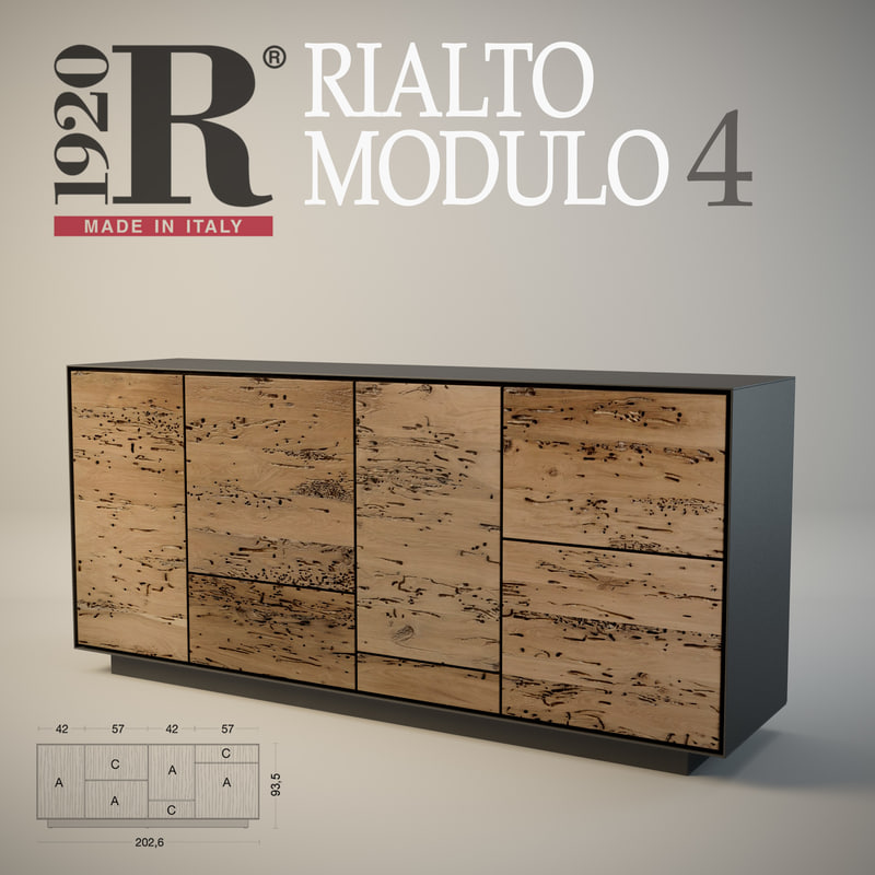 3d max sideboard rialto modulo 4