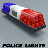 3d model of police lights