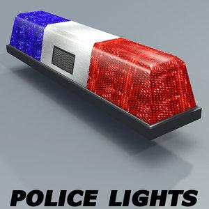3d model of police lights