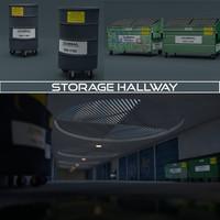 storage hallway c4d