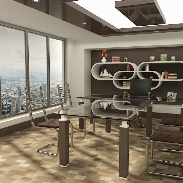 3ds stylish office room