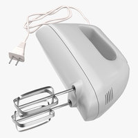 hand mixer white 3d max