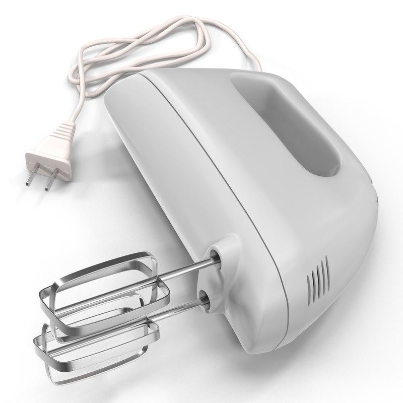 Hand Mixer White 3d model 01.jpg