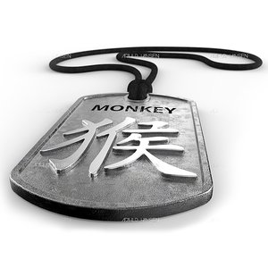 monkey chinese zodiac 3d model