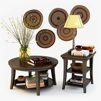 3d model pottery barn decorative set