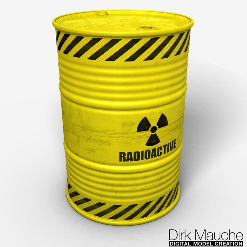 nuclear waste barrel obj