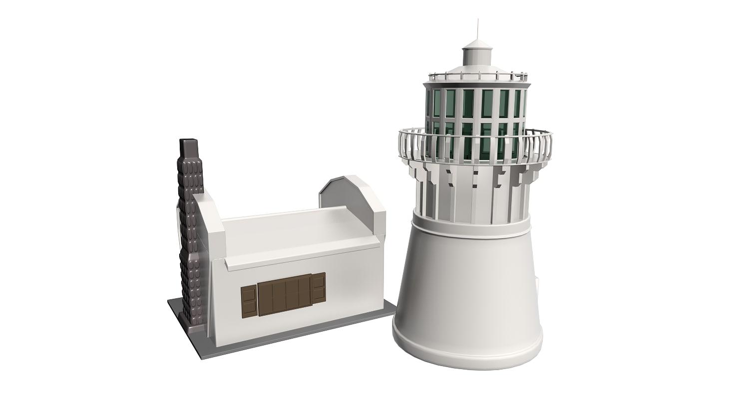 lighthouse light 3d 3ds