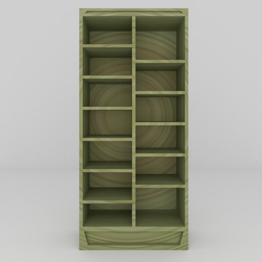 simple bookcase 3ds free