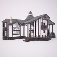 3d model wooden house