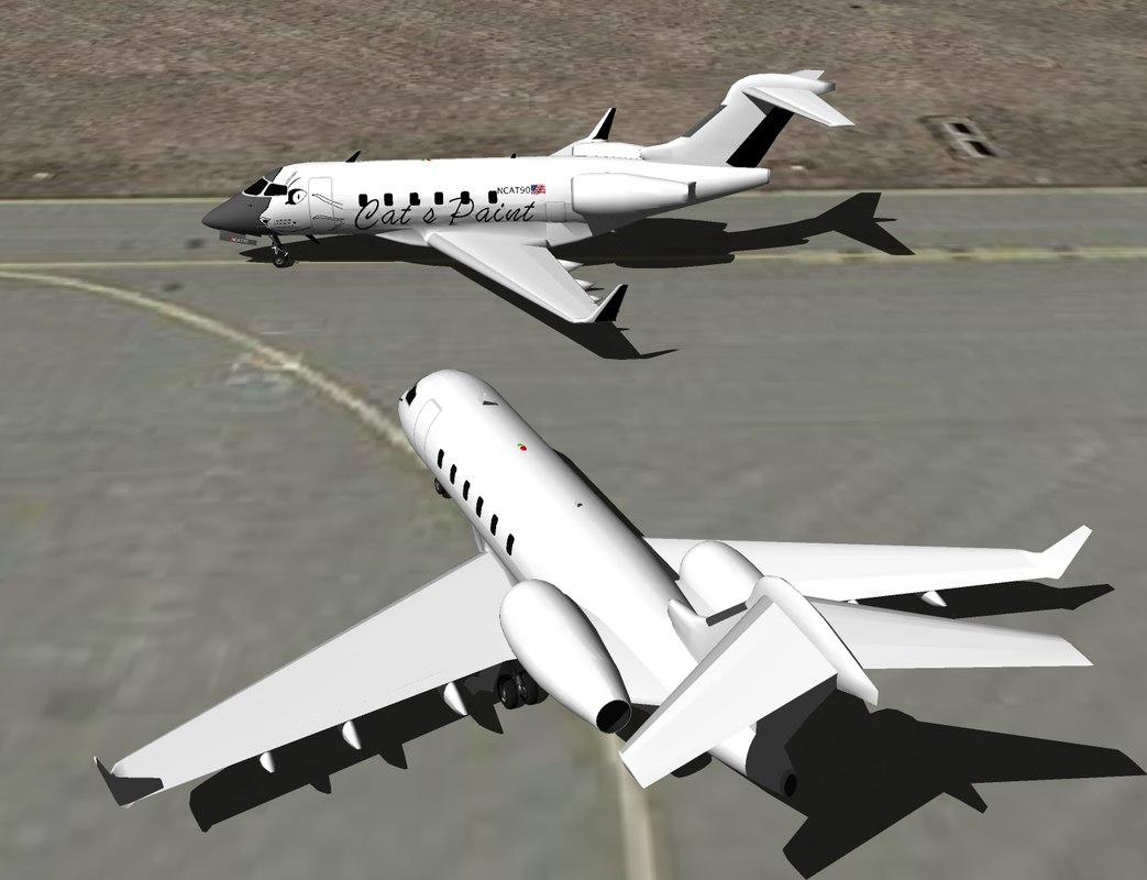 bombardier challenger 300 3d 3ds