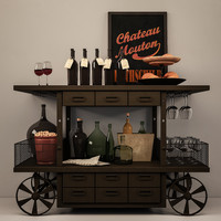 Decorative set of wine