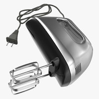 3d hand mixer chrome