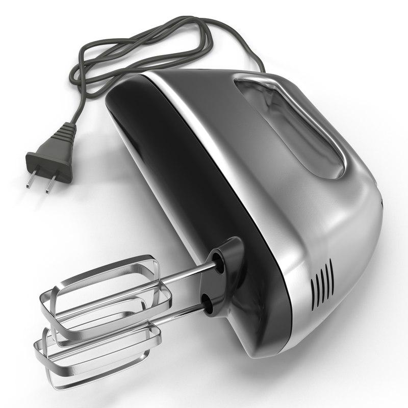 3d hand mixer chrome