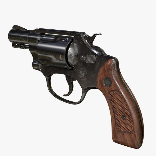 3d obj smith wesson 38 revolver