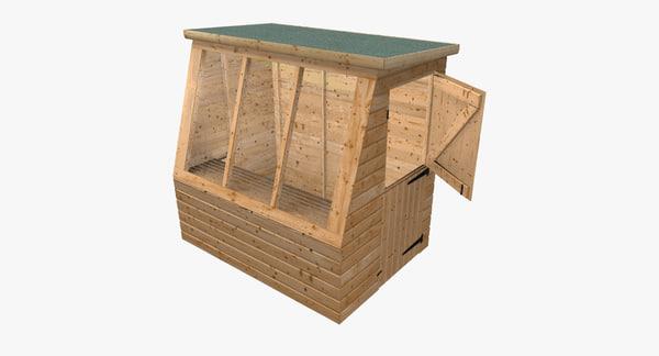 3d potting shed model