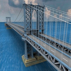 3ds max manhattan bridge